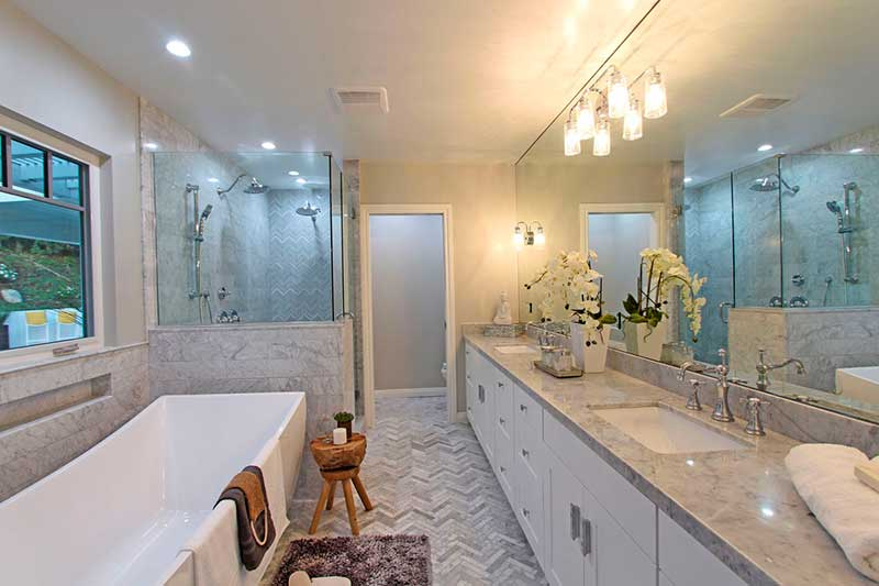 16635 Oldham St Master Bathroom Renovated by Sandlot Homes