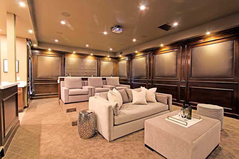 4529 Gloria Ave Theater Room Rennovated by Sandlot Homes of Encino, Ca