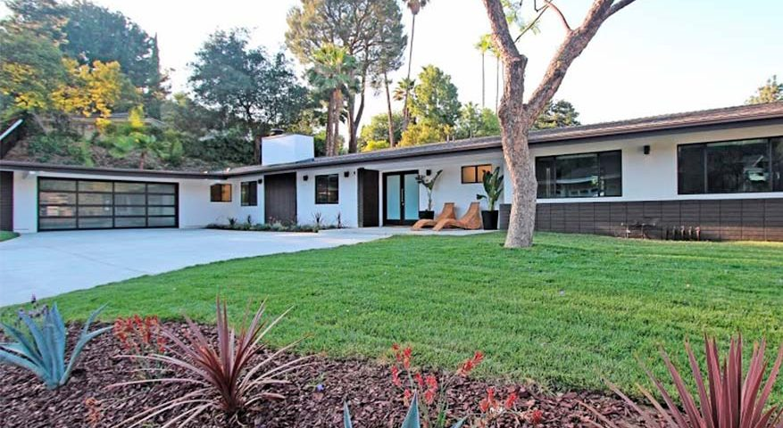 Modern Ranch Glamour Encino Ca Sandlot Homes Rebuild